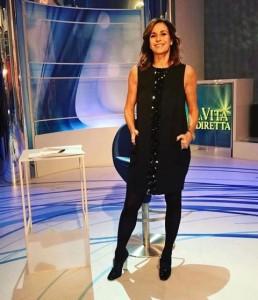 """Cristina Parodi (abito nero) """"La Vita in Diretta"""""""