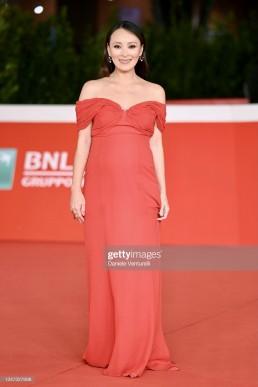 "JUN ICHIKAWA in Giorgio Grati ""red dress"" attends the red carpet of the movie"